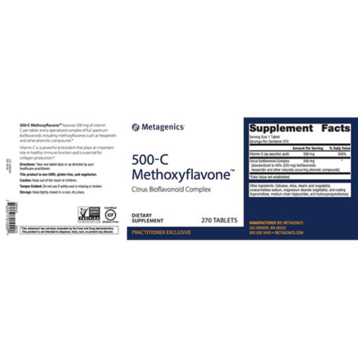 Metagenics Methoxyflavone Label