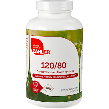 Advanced Nutrition by Zahler 120 80 Blood Pressure 180 caps Z80945