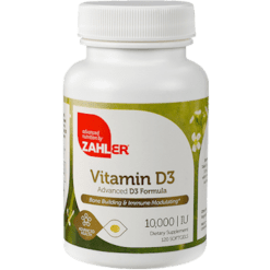 Advanced Nutrition by Zahler Vitamin D 10000 IU 120 softgels Z00448