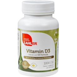 Advanced Nutrition by Zahler Vitamin D3 1000 IU 120 softgels Z80549