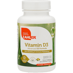 Advanced Nutrition by Zahler Vitamin D3 Chewable 1000 IU 120 tabs Z80808