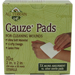 All Terrain Gauze Pads 2quot x 2quot 10 pc AT5007