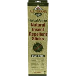 All Terrain Herbal Armor Insect Repellent Sticks10pc AT1050