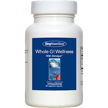 Allergy Research Group Whole GI Wellness w Benegut 60 vegcaps A72502