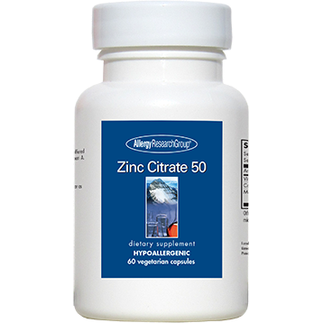 Allergy Research Group Zinc Citrate 50 mg 60 caps ZINC2