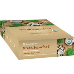 Amazing Grass Green SuperFood Choc. Chip Coco 12 Bars A51026