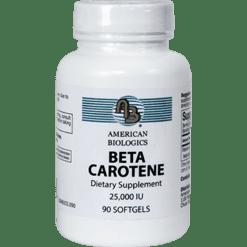 American Biologics Beta Carotene 25000 IU 90 softgels BET49