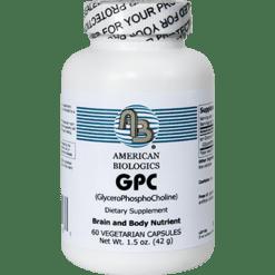 American Biologics GPC GlyceroPhosphoCholine 300mg 60caps GPCC2