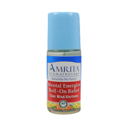 Amrita Aromatherapy Mental Energizer Roll On Relief 1 fl oz A17605