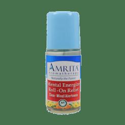 Amrita Aromatherapy Mental Energizer Roll On Relief 1 fl oz A17605