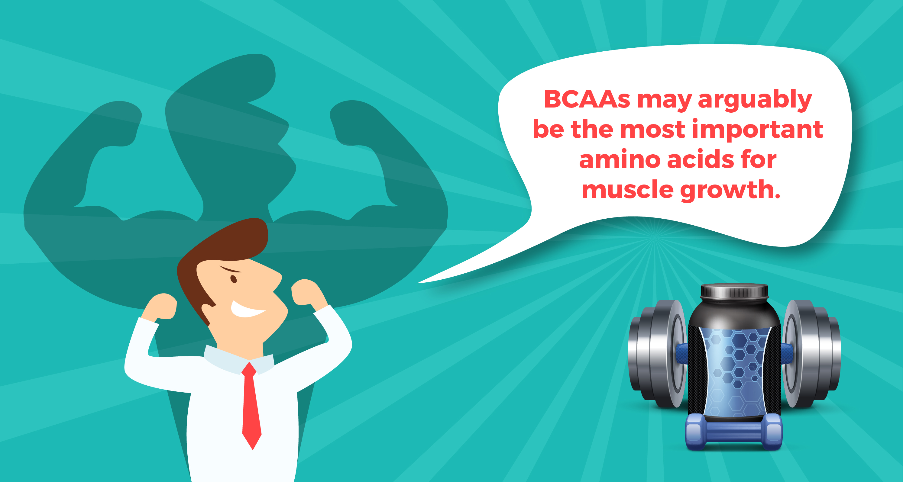 BCAAs are important for muscle growth