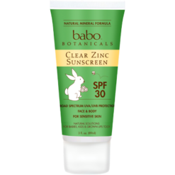 Babo Botanicals Clear Zinc Sun Lotion 3 oz B92699
