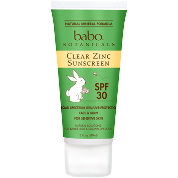 Babo Botanicals Clear Zinc Sun Lotion 3 oz B92699