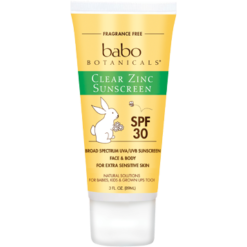 Babo Botanicals Clear Zinc Sun Lotion Unscented 3 oz B82910
