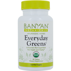 Banyan Botanicals Everyday Greens Tablets Organic 180 tabs B12611