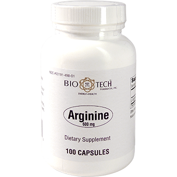 Bio Tech Arginine 600 mg 100 caps B13005