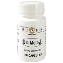 Bio Tech B12 Methyl 100 vegcaps B96704
