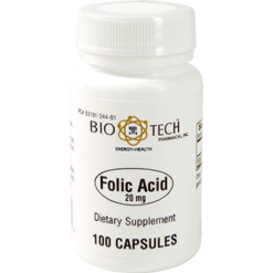 Bio Tech Folic Acid 20 mg 100 caps FOL10