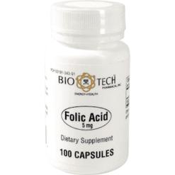 Bio Tech Folic Acid 5 mg 100 caps FOL12