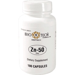 Bio Tech Zn 50 Zinc Gluconate 50 mg 100 caps ZIN13