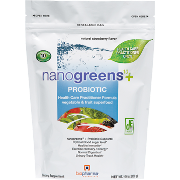 BioPharma Scientific nanogreens10Probiotic 10.6 oz B32288