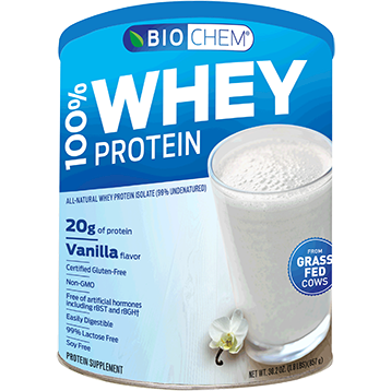 Biochem 100 Whey Protein Vanilla 30.2 oz B20110