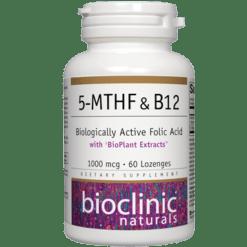 Bioclinic Naturals 5 MTHF amp B12 60 lozenges B94264
