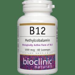 Bioclinic Naturals B12 Methylcobalamin 1000 mcg 60 loz BC9420