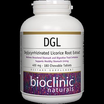 Bioclinic Naturals DGL 180 chewable 180 tabs BC9227