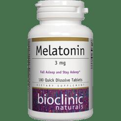 Bioclinic Naturals Melatonin 3mg 180 tabs BC9285