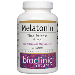 Bioclinic Naturals Melatonin Time Release 5 mg 60 tabs BC9290