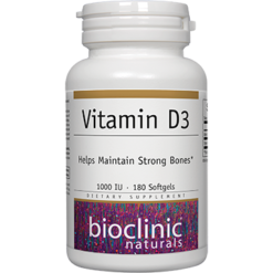 Bioclinic Naturals Vitamin D3 1000 IU 180 softgels B9431