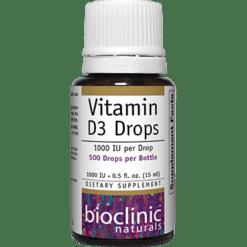 Bioclinic Naturals Vitamin D3 Drops 1000 IU 0.5 fl oz B94325