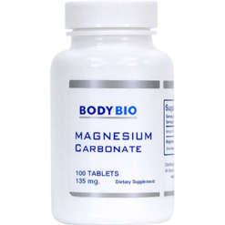 BodyBio E Lyte Magnesium Carbonate 135 mg 100 tabs HL216