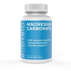 BodyBio Magnesium Carbonate 135 mg 100 tabs