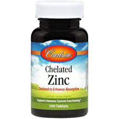 Carlson Labs Chelated Zinc 100 tabs ZIN15