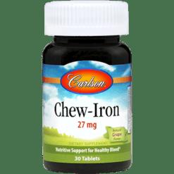 Carlson Labs Chew Iron 27 mg 30 tabs CHEWI
