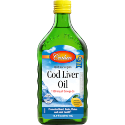 Carlson Labs Cod Liver Oil Lemon 16.9 oz CODL3