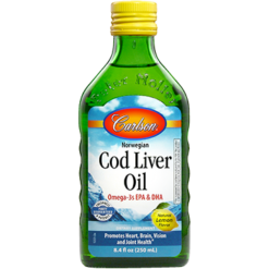 Carlson Labs Cod Liver Oil Lemon 8.4 fl oz CODL4
