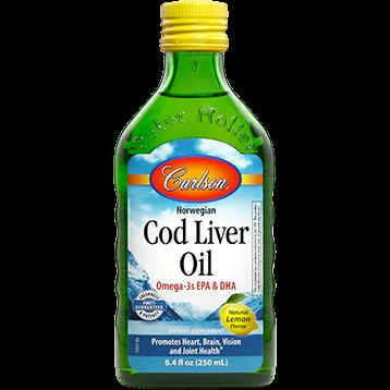 Carlson Labs Cod Liver Oil Lemon 8.4 fl oz CODL4