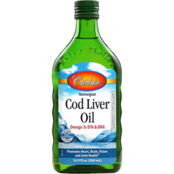 Carlson Labs Cod Liver Oil Regular Flavor 500 ml CODL7