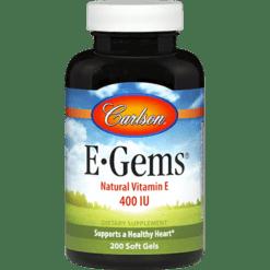 Carlson Labs E Gems® 400 IU 200 gels EGEM6