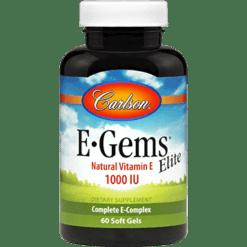 Carlson Labs E Gems® Elite 1000 IU 60 gels EGE12