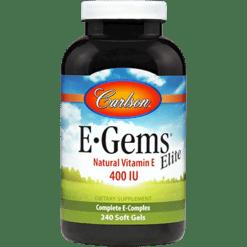 Carlson Labs E Gems Elite 240 gels EGEM4