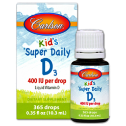 Carlson Labs Kid039s Super Daily D3 0.35 fl oz C12600