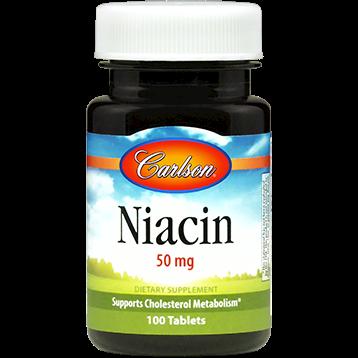 Carlson Labs Niacin 50 mg 100 tabs NIAC3