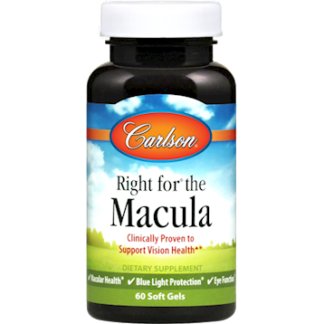 Carlson Labs Right for the Macula 60 gels RFM60