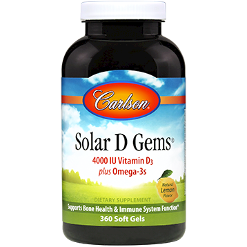 Carlson Labs Solar D 4000 IU 360 gels SD403