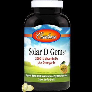 Carlson Labs Solar D Gems 2000 IU 360 gels SD203