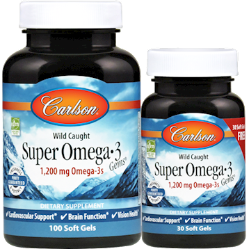 Carlson Labs Super Omega 3 Gems 1000 mg 130 softgels SUP38